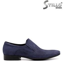 Мъжки обувки от син набук - 33065