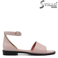 Розови дамски сандали на равно ходило - 33070