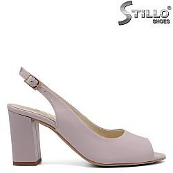 Лилави сандали от естествена кожа - 33085