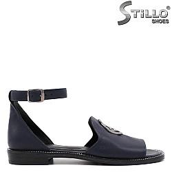 Сини сандали от естествена кожа - 33090