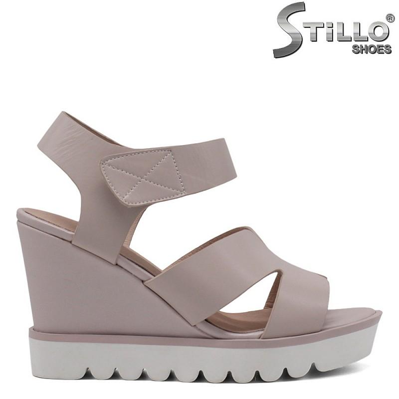 Малки размери 33, 34, 35 дамски сандали на платформа - 33101