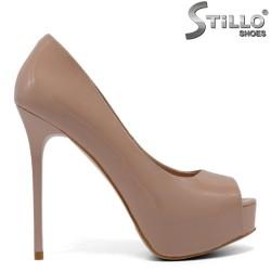 Дамски отворени обувки на платформа с ток 33, 34 номер - 33116