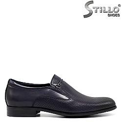 Перфорирани мъжки обувки от естествена кожа - 33141