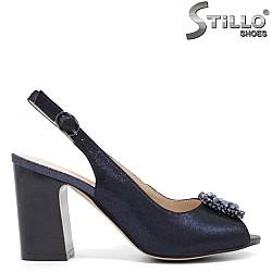 Сини сандали с камъчета - 33143