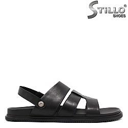 Мъжки сандали в черен цвят от естествена кожа големи размери 46,47,48 - 33181