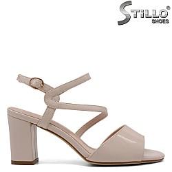 Стилни бежови сандали  - 33205