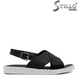 Дамски черни ежедневни сандали - 33235