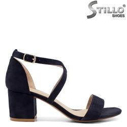 Сини велурени сандали - 33251