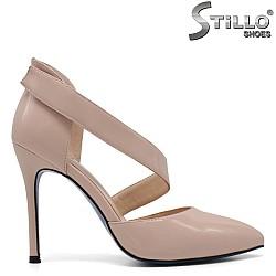 Розови лачени сандали - 33262