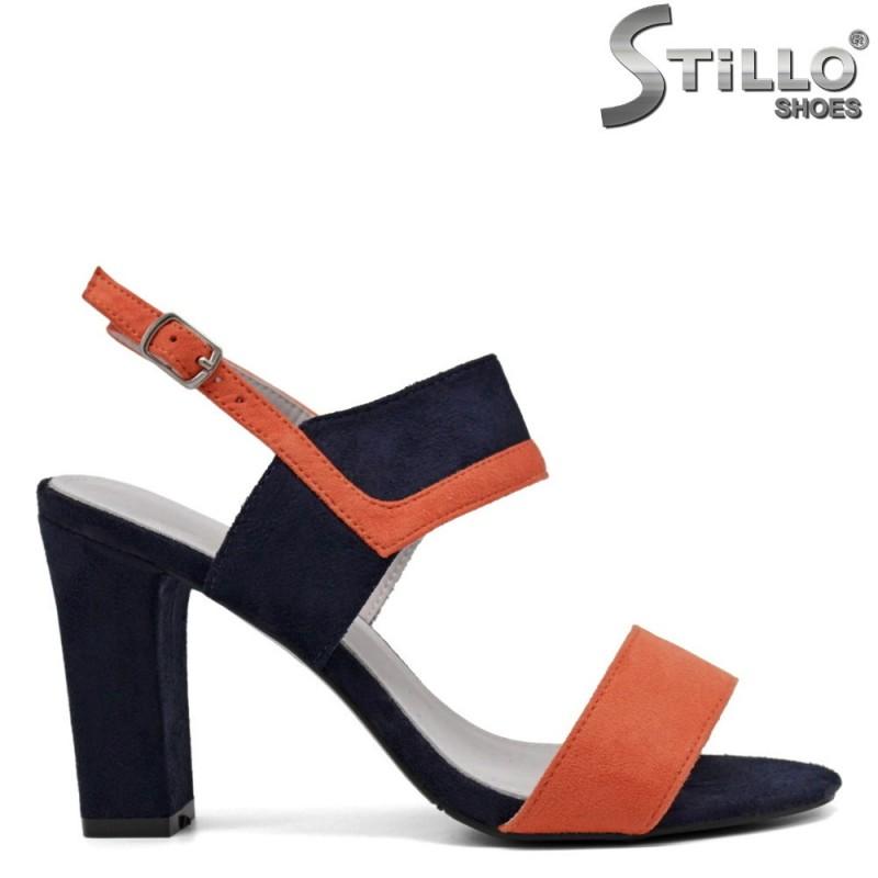 Дамски сандали на дебел ток - 33308