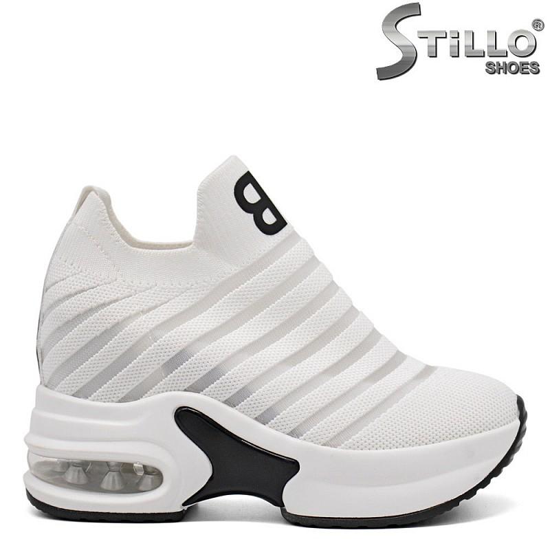 Бели маратонки на платформа - 33314