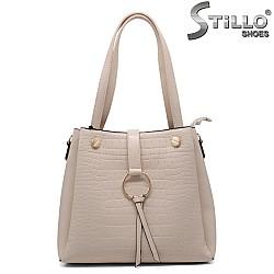 Дамска чанта капучино - 33329