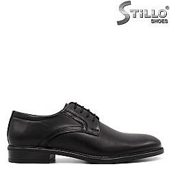 Мъжки официални обувки с връзки - 33352