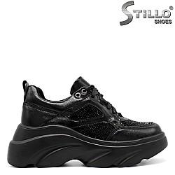 Дамски спортни обувки с камъчета - 33399