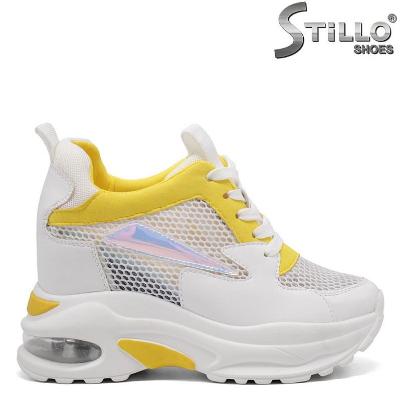 Бели маратонки на платформа - 33309