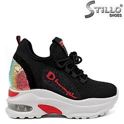 """Спортни обувки """"хамелеон"""" с червен акцент - 33419"""