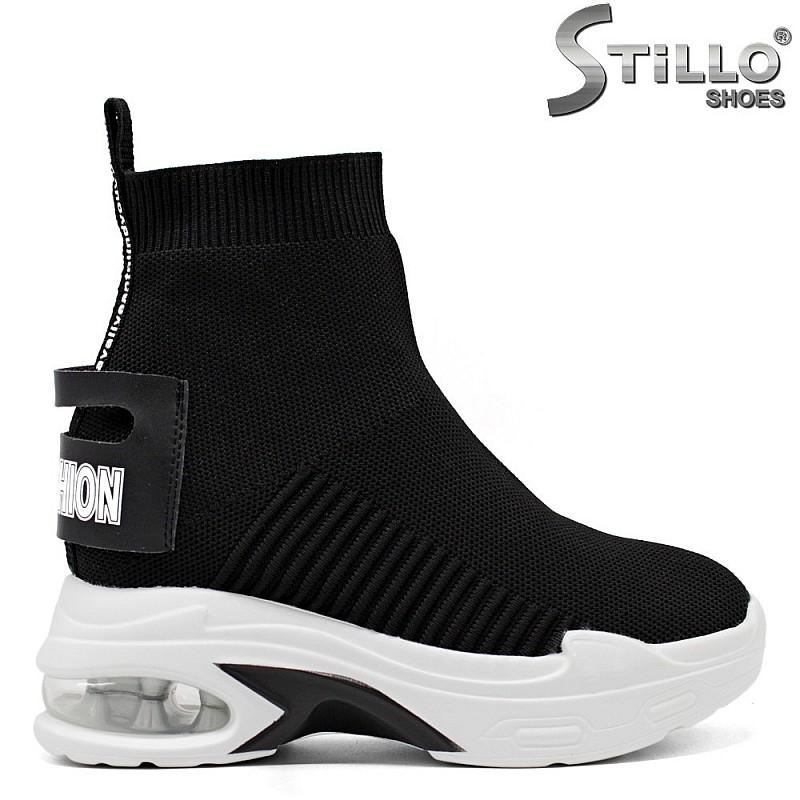 Спортни черни боти Fashion - 33420
