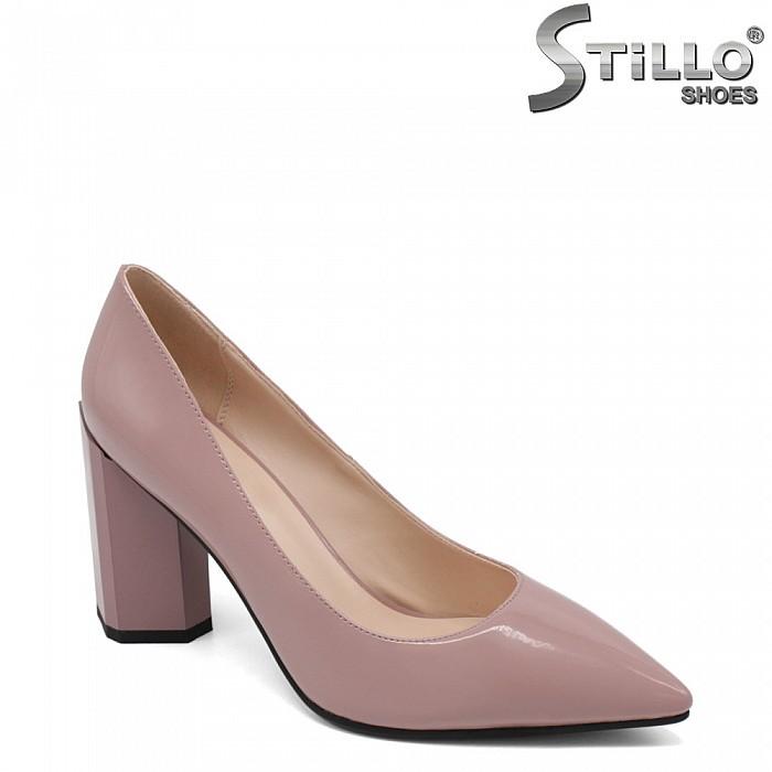 Люлякови остри обувки на висок ток - 33496