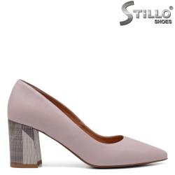 Обувки естествена кожа в цвят пудра - 33492