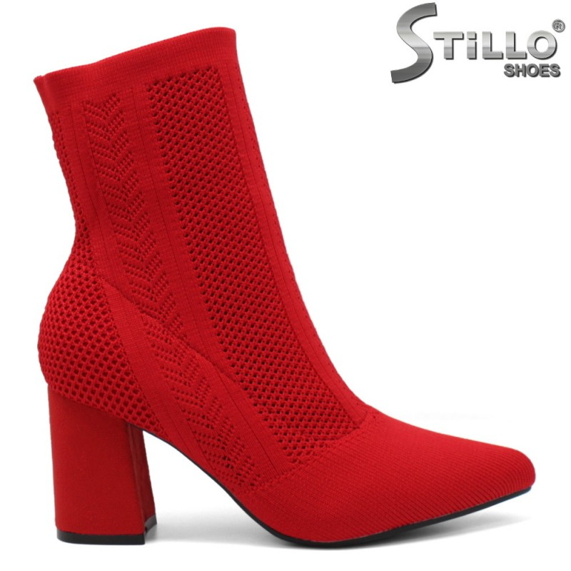 Червени дамски боти - 33526