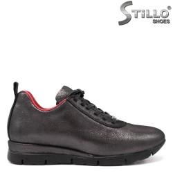 Спортни обувки от натурална бронзова кожа - 33542