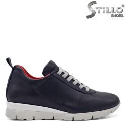 Спортни кожени обувки в тъмносиньо - 33543