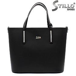 Кожена дамска чанта с тънки дръжки - 33583