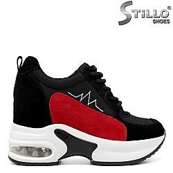 Спортни дамски обувки с вътрешна платформа - 33600