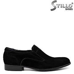 Мъжки обувки от естествен черен велур - 33617