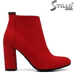 Червени боти с камъчета -33660