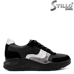 Спортни обувки на дебело ходило във велур и кожа - 33732