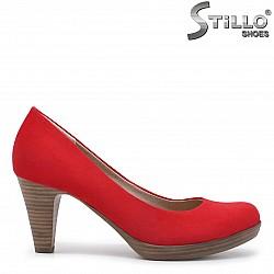 Червени обувки MARCO TOZZI на среден ток - 35925