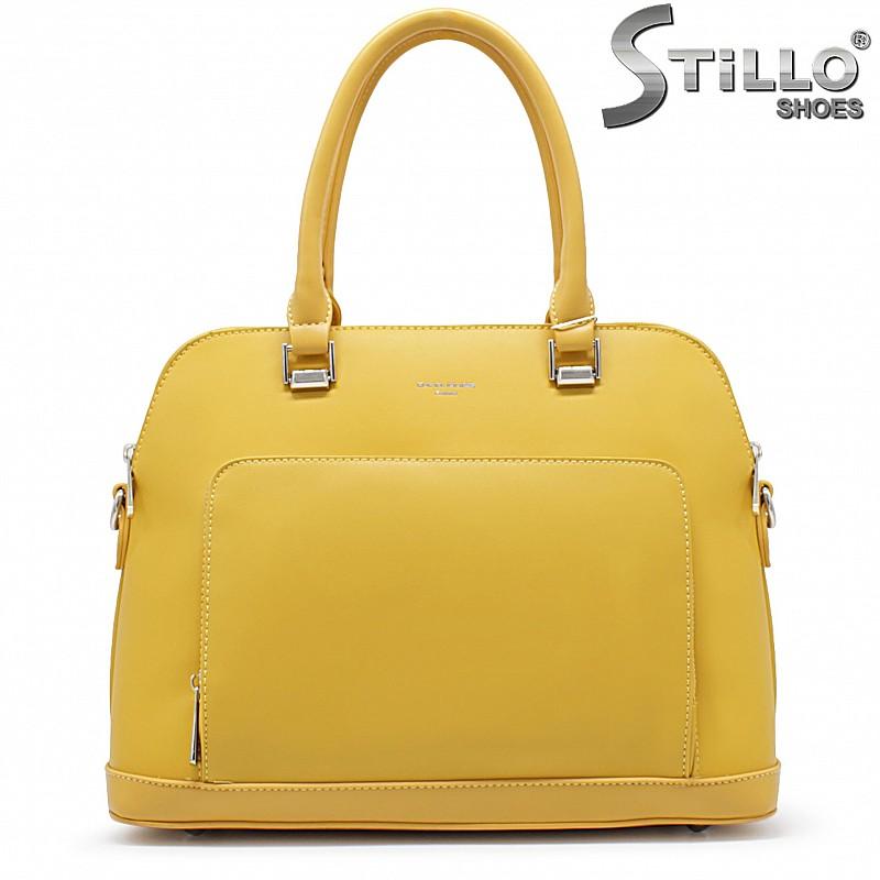 Жълта дамска чанта- 35928