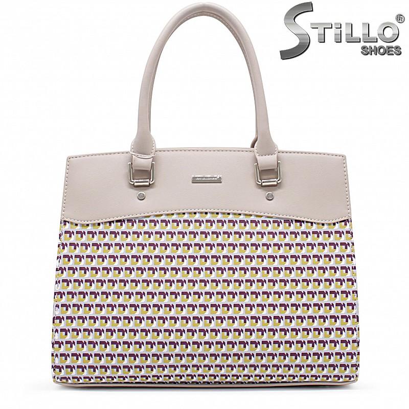 Светло сива дамска чанта - 35937