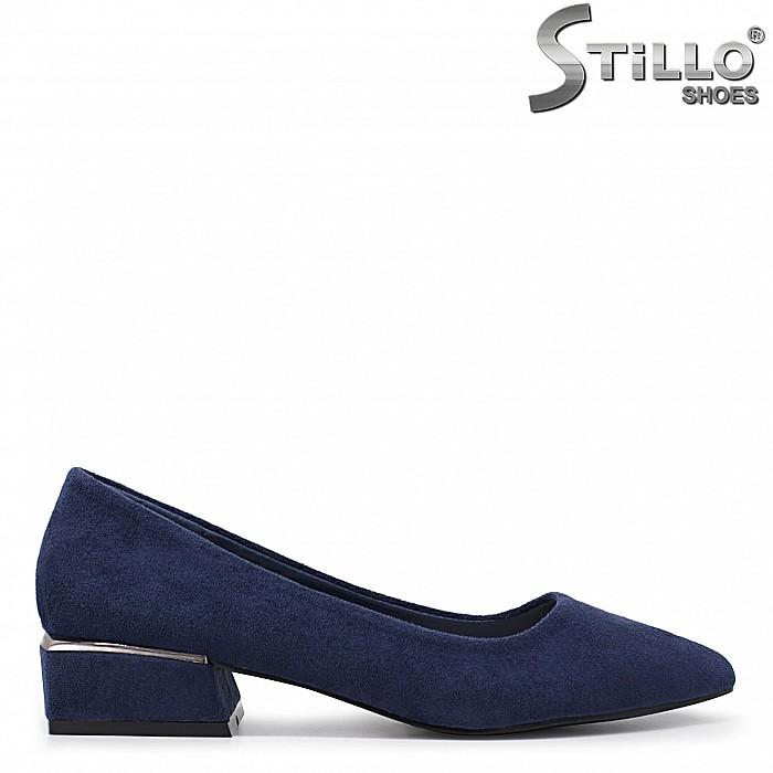 Дамски обувки на квадратен ток - 35972
