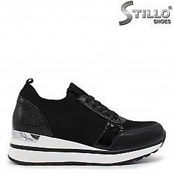 Дамски спортни обувки  от текстил със змийска щампа- 36048