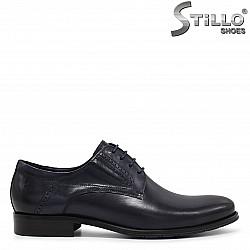 """Сини мъжки обувки тип """"оксфорд"""" - 36209"""