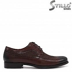 Мъжки обувки с швейцарска перфорация - 36210