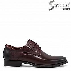 Мъжки официални обувки в бордо - 36212