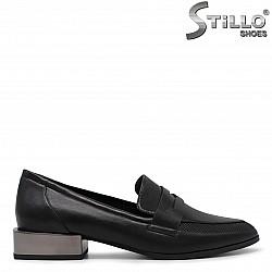 Дамски обувки на нисък метален ток- 36243