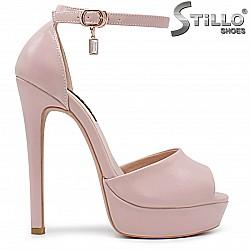Розови сандали на висок ток и платформа от 33,34 до 37 - 36284