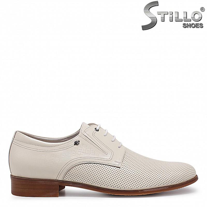 Бежови мъжки обувки ГОЛЕМИ РАЗМЕРИ от 46 до 49 - 36008