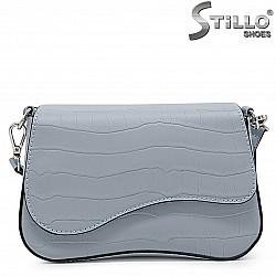 Синя дамска чанта през рамо – 36119