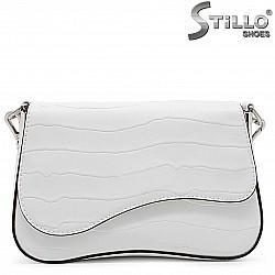 Бяла мини чанта през рамо – 36123