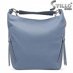 Светлосиня дамска чанта тип торба – 36131