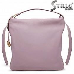 Дамска чанта тип торба в светло лилаво – 36151
