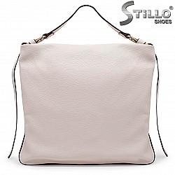 Бежова дамска чанта тип торба – 36154