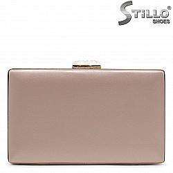 Дамска чанта клътч за бал в перлено розово – 36174