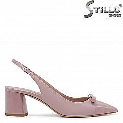 Розови дамски обувки с отворена пета – 36177