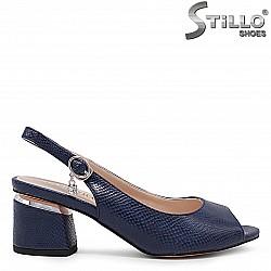 Сини дамски обувки на среден ток – 36193